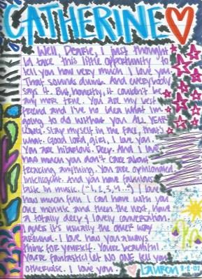 Lauren's letter to me (2007)